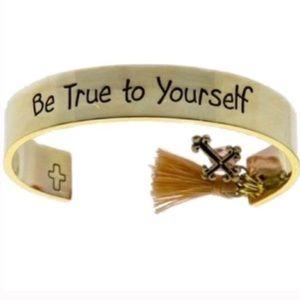 Favorite! Be True To Yourself Cuff Bracelet